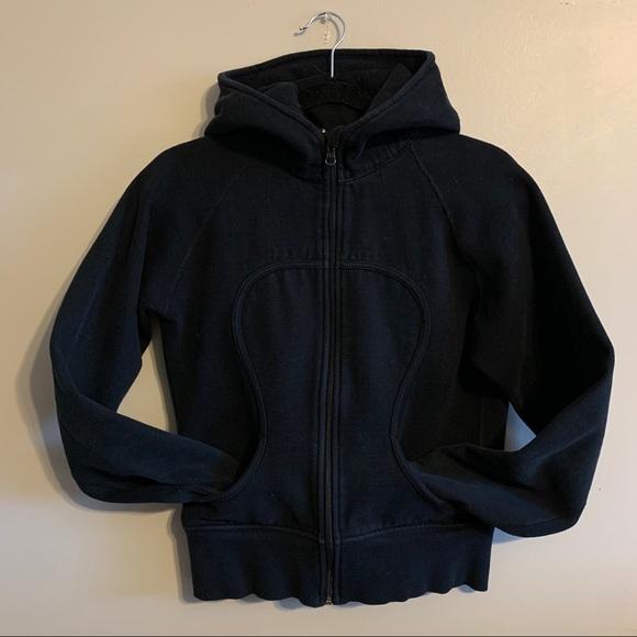 Lululemon pure black scuba hoodie